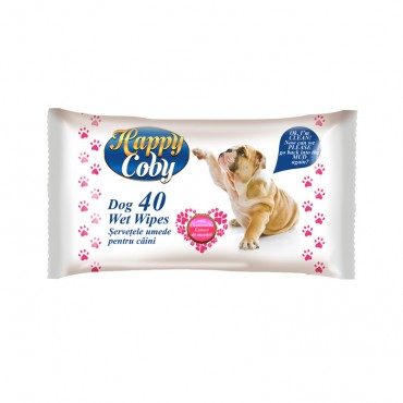 "Drėgnos servetėlės ""Happy coby dogs"" 40vnt."