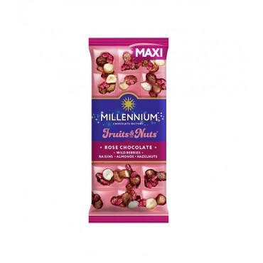 """Pieninis šokoladas """"Rose Millennium Fruits&Nuts"""" maxi 125g"""
