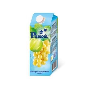 (Ranok) Vynuogių-obuolių nektaras 1,9L (6*1)