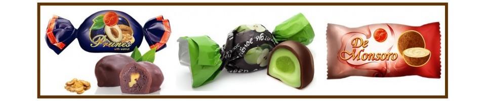 šokoladiniai, glaistyti saldainiai