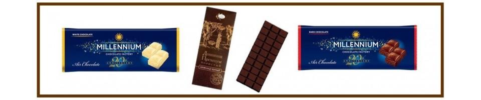 Šokolado plytelės, batonėliai